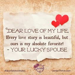 Our love story is my absolute favorite!