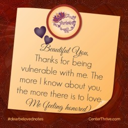 Thanks for being vulnerable!