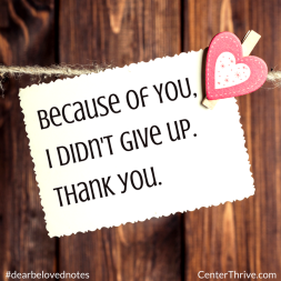 Because of YOU…