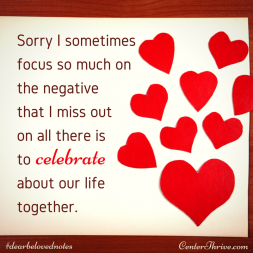 Sorry I sometimes focus so much on the negative…