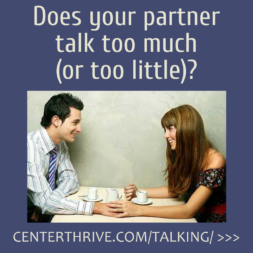 Does your partner talk too much (or too little)?