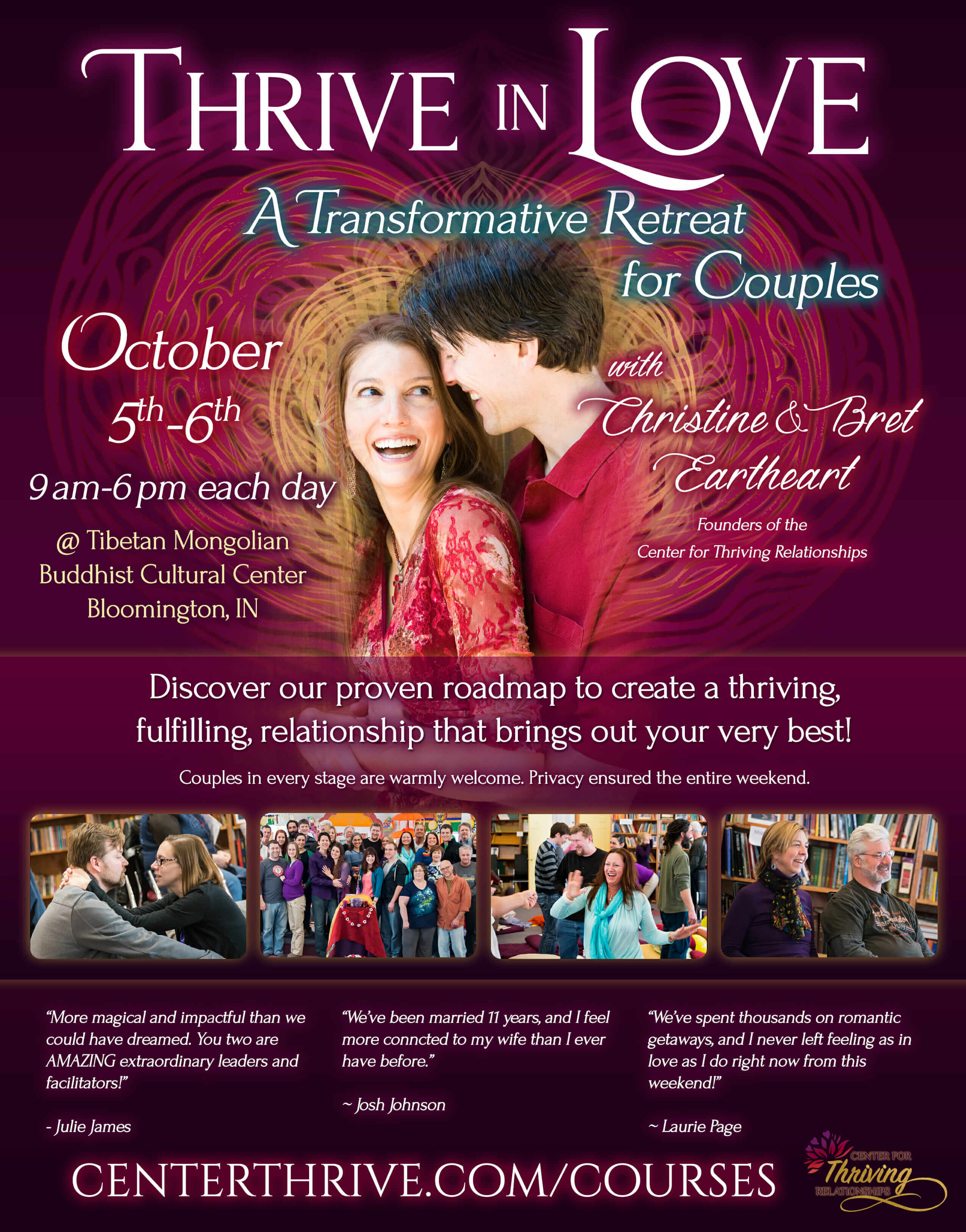 Thrive in Love - Bloomington, October 2019 Flier
