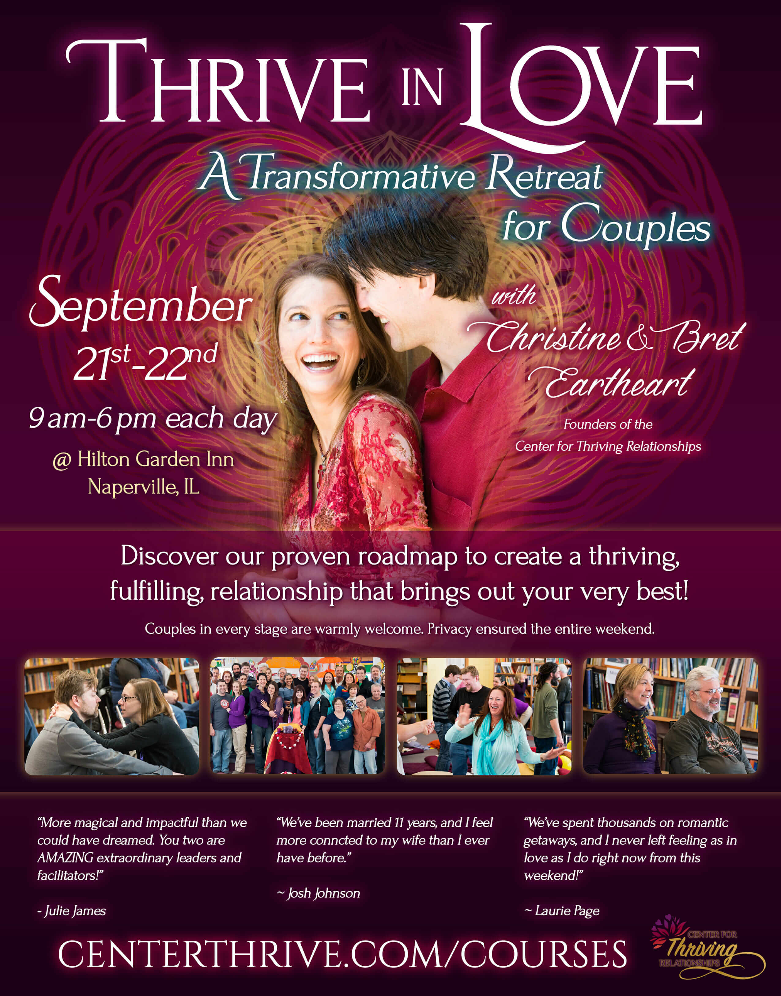 Thrive in Love - Chicagoland, September 2019 Flier